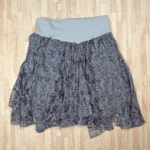 Free People Intimately Snakeskin Sheer Skirt